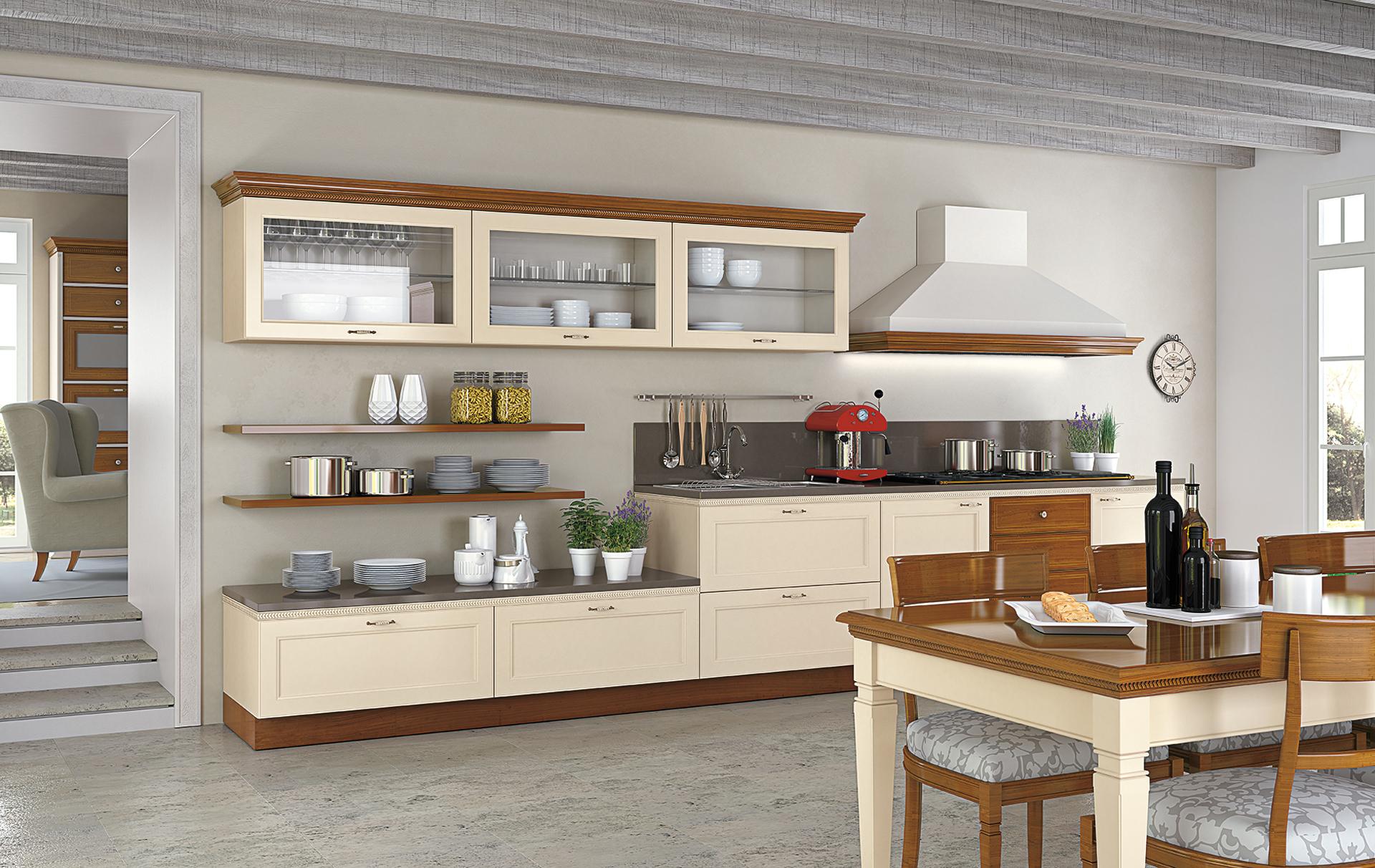 Cucina Bianca E Ciliegio cucina completa parete b. cucina classica ciliegio arredook